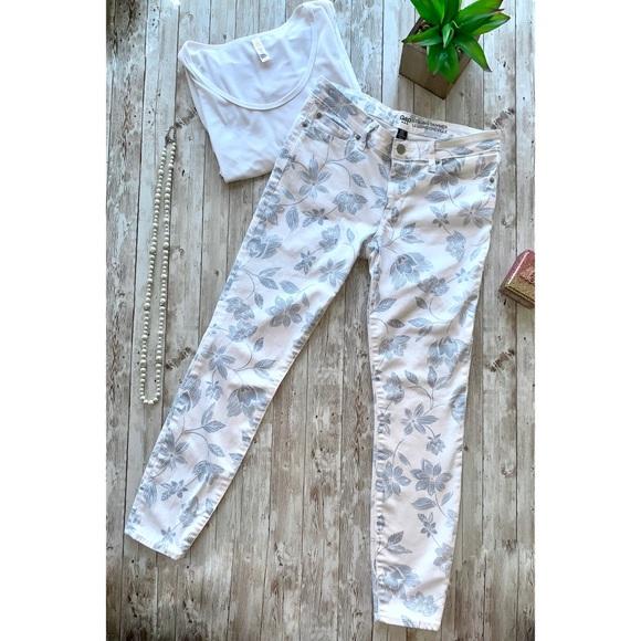 GAP Denim - Gap legging skimmer white blue floral print